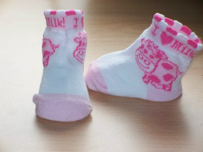 Girls tiny baby socks IN THE MEADOW range 000 5-8lb