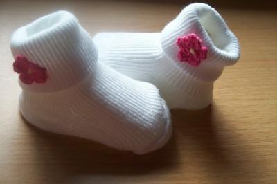 Girls socks,Premature baby socks LIL MISS DAISY 5-8lb socks 000