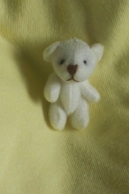 tiny teddies Bear Hugs Micro sized tiny teddy bear 4cm ivory/white