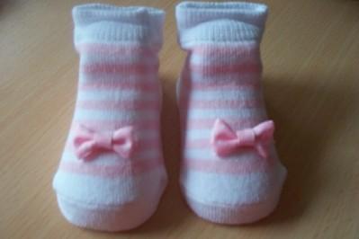 girls pretty prem baby socks BABY PINK MINIBOW 5-8lb 000