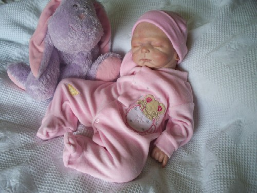 premature baby clothes sleepsuit velour Pink 3-5lb MUFFIN MOUSE