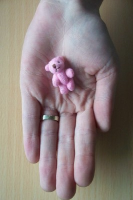 PINK tiny teddies micro tiny teddy bears miscarried baby memory box 30mm (3cm)