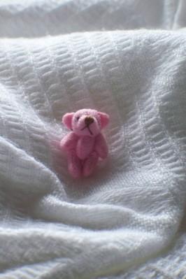 PINK tiny teddies micro tiny teddy bears miscarried baby memory box 30mm (3cm)