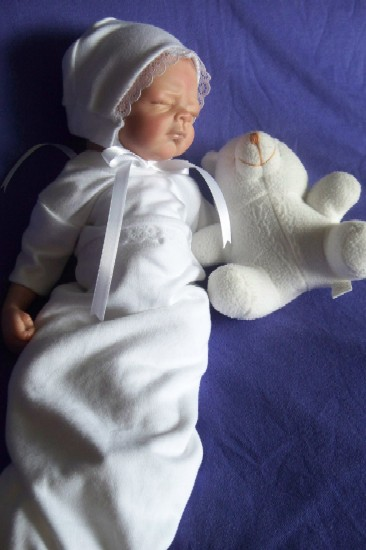 Something Precious Premature Baby Bereavement Gown Lady + lace tiny sizes