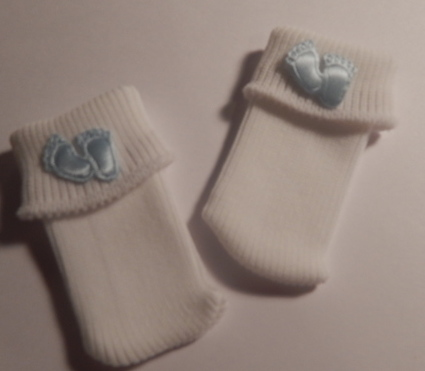 stillbirth baby loss clothes SOCKS tiny toes boys blue born 22-25weeks 1-2lb