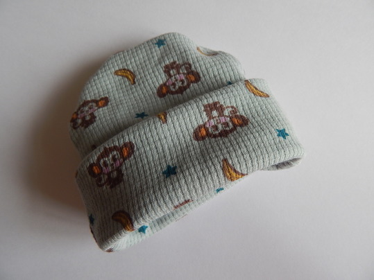 boys premature baby clothes FUNKY MONKEY beanie hat 3-5lb