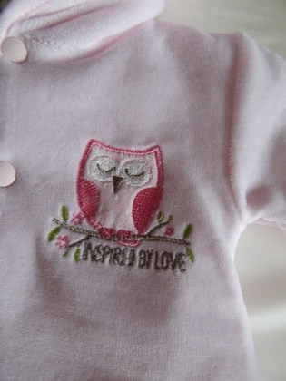 girls premature baby snowsuit early babies coat 5-8lb Pink SWEET OWL