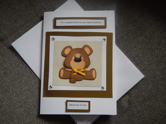 baby condolence card A friend bereavement cards here MEMORIES OF LOVE