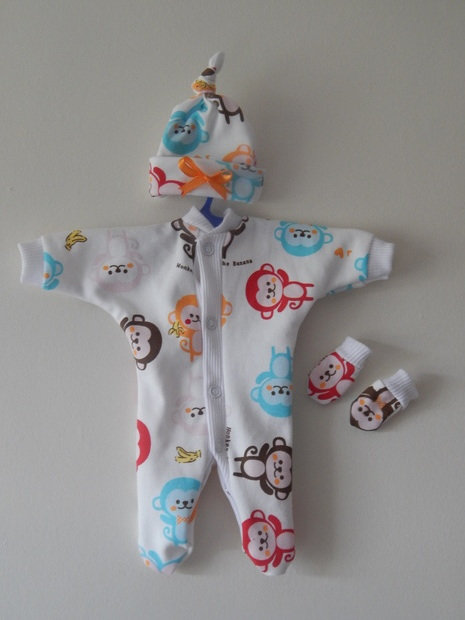 boys premature baby clothing CHEEKY MONKEYS for tiny infants in 2-3lb