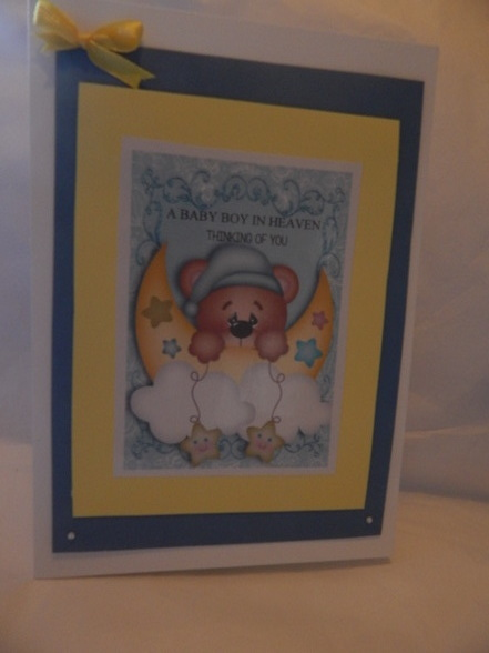 baby bereavement cards Infant boy COMFY CLOUDS in sympathy