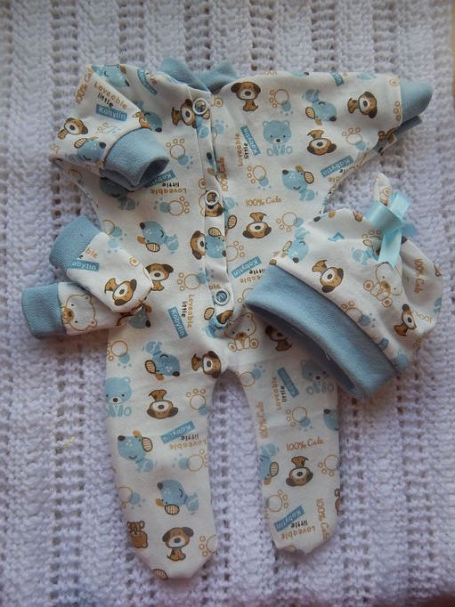 stillborn baby bereavement clothes boy born at 24-25 weeks PUPPY PALS
