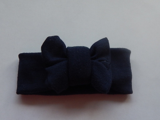 premature babies headbands colour NAVY BLUE tiny Baby in 3-5lb