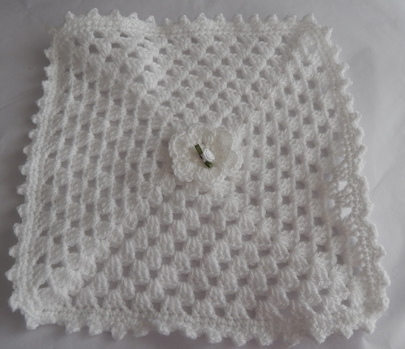 baby bereavement blanket babies casket WHITE rosebud 30cm born 23-25 weeks