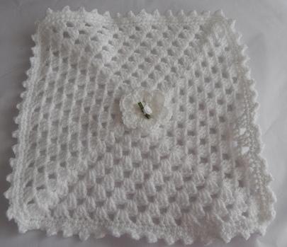 baby bereavement blanket babies casket WHITE rosebud 30cm born 23-25 weeks