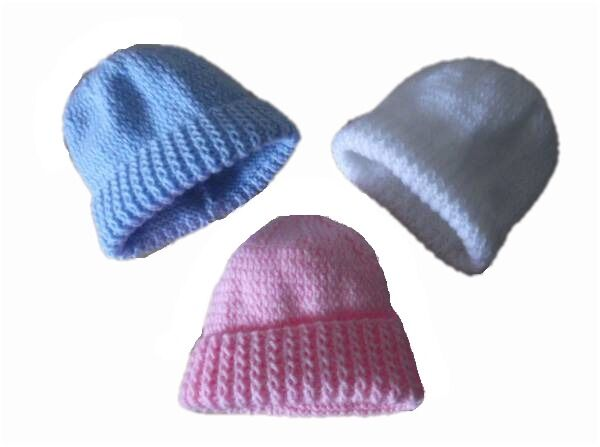 premature baby hat knitted early baby 5-8LB 2.5-3.5kg SECURE KNIT