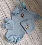 22 weeks pregnant tiny babies clothing ANIMAL KINGDOM blue