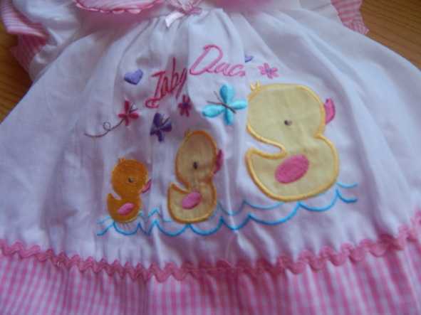 Premature baby dress set White and Pink 3-5lb 5-8lb ot NB  early baby dresses