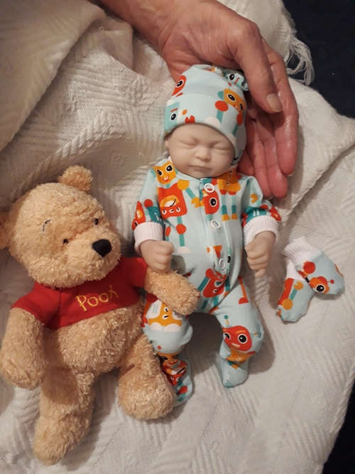 stillbirth boys baby bereavement clothes ROBOT ERA  born at 24 weeks 1lb premature