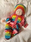 premature Girls baby bereavement clothes Stillborn babies born at 22 24 weeks CANDY RAINBOW