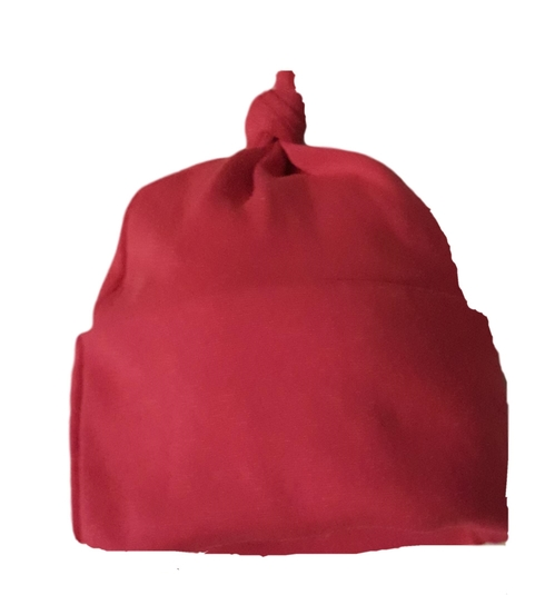 neonatal premature babies clothes KNOTTED hat red 1-2lb