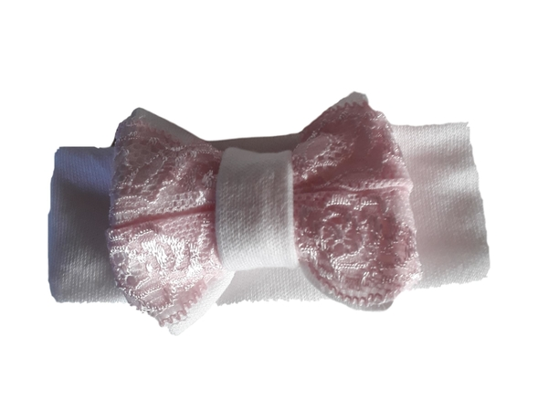 early baby clothes smallest premature headband PINK LACE 2-3lb