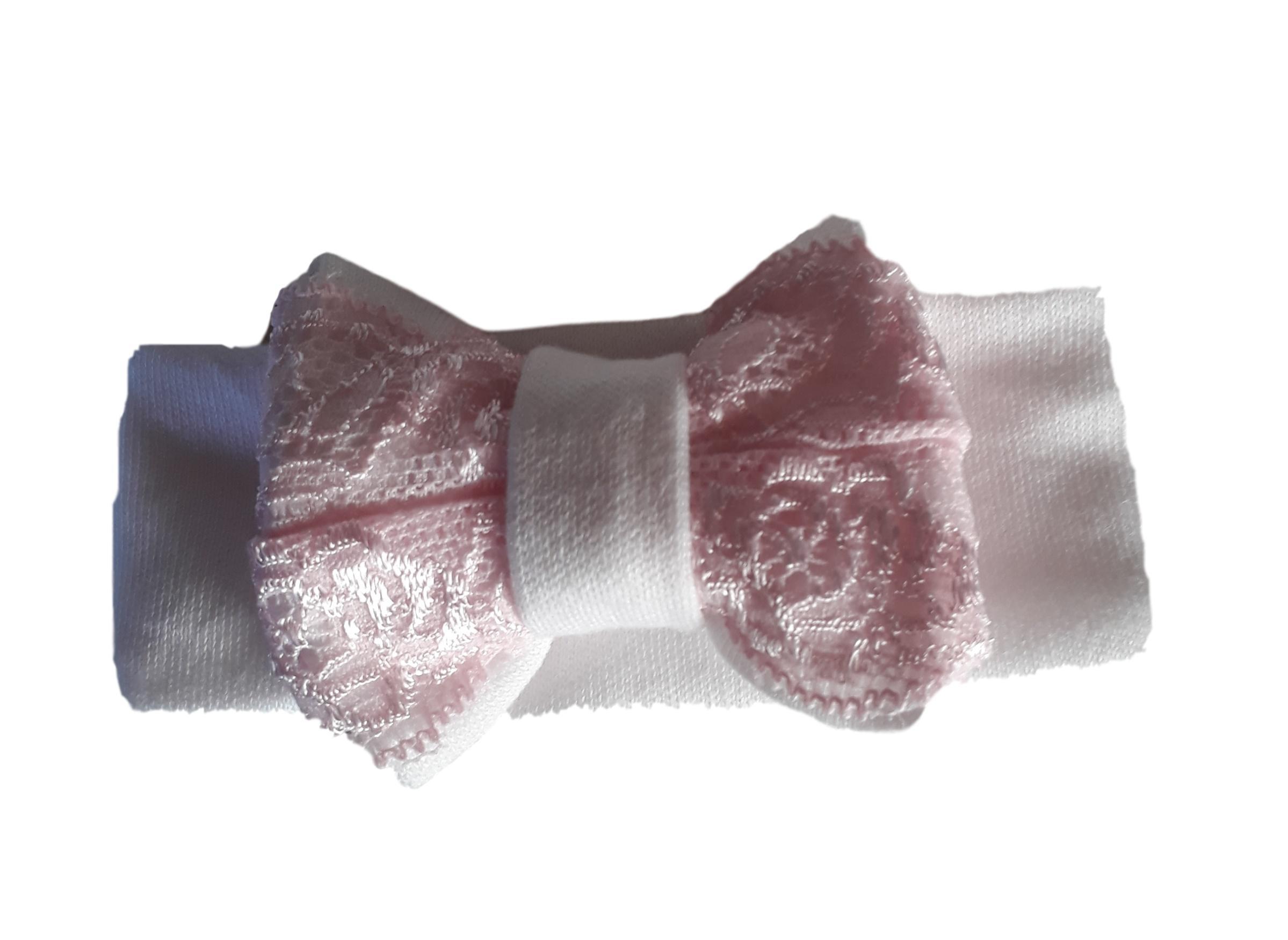 babys headbands premature babies clothes  PINK LACE 1-2lb
