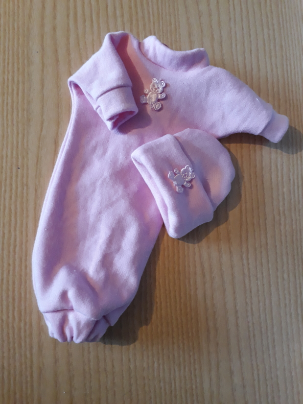 stillborn baby clothes girls pink gown set born 20-22 weeks NA NITE SLEEPTIGHT