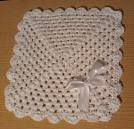 preemie baby bereavement blanket stillbirth at 22 - 23 weeks WHITE BOW