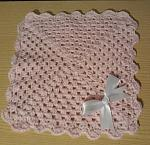 girls preemie baby bereavement blanket stillbirth 22-23 weeks with PINK BOW