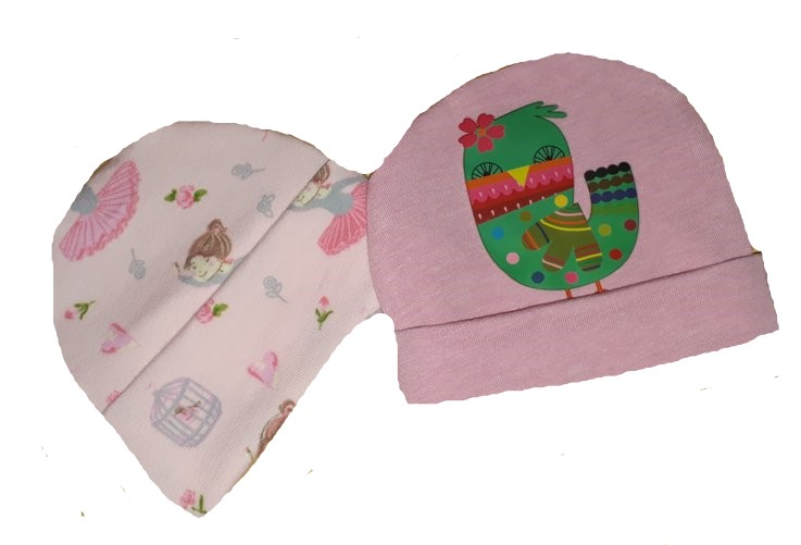 premature baby clothes 2 cute beanie hats BIRDS OF PARADISE 3-5lb
