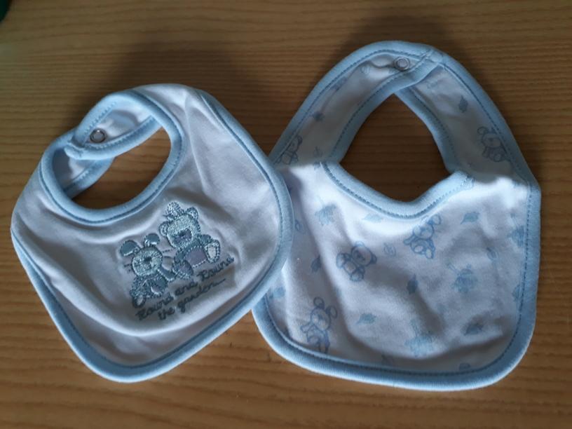 PACK 2 BIBS premature baby size accessories boys smallest 2 blue