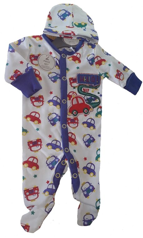 early babies sleepsuit Premature baby clothes UK BEEP DE BEEP Boys 3-5lb OR 5-8LB