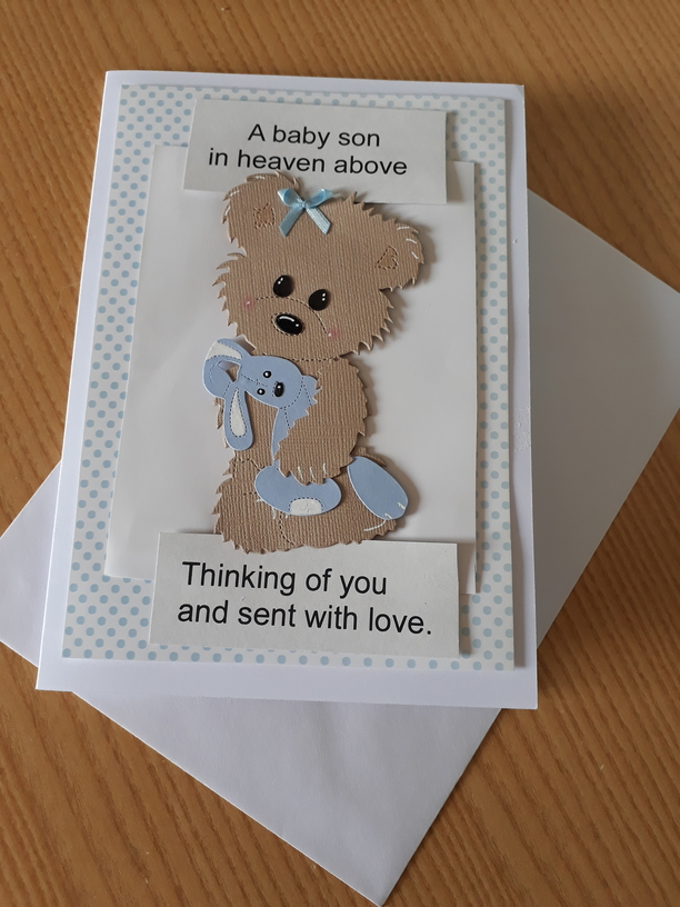 condolances card HUGGS BOYS bereavement cards with love