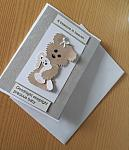 condolences card bear HUGGS baby bereavement cards unisex