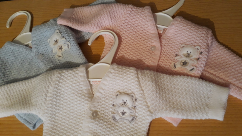TINY Premature infant cardigan CONTENTED BEAR 5-8lb