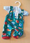 early baby clothes premature size 2-3lb dungaree  t shirt LITTLE SNAILS