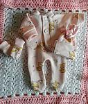 girls cute tiny baby berevament clothes full set Stillborn at 24 weeks