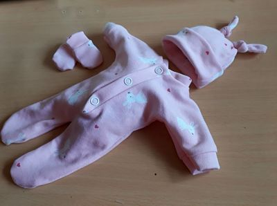 girls pretty baby bereavement clothes stillbirth at 24 weeks BLOSSOM BUNNIES