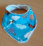 premature baby bibs boys ZOOM TO THE MOON bandana tiny babies 3-5lb