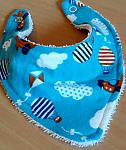 premature baby bibs boys ZOOM TO THE MOON bandana tiny babies 3-5lb