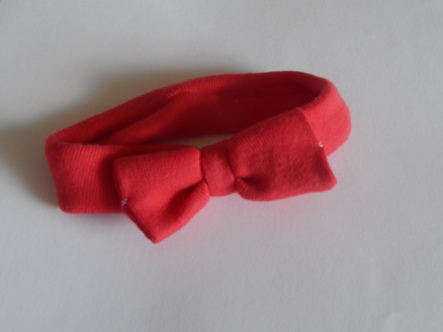 girls headbands babies 1-2lb premature baby head band ROSE RED shade