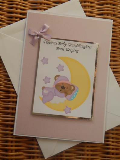 baby bereavement funeral cards condolances SHIMMER N SHINE girls sympathy card