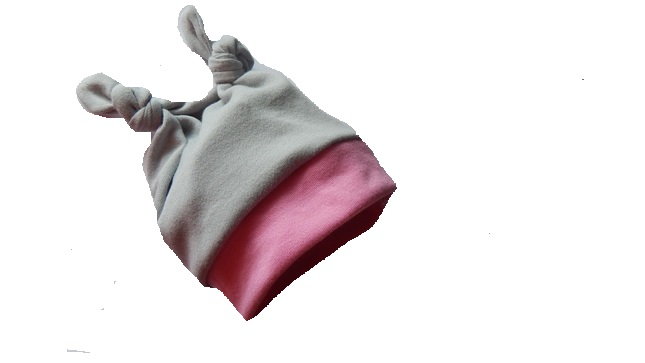 NICU  premature baby hat 1-2lb PINKELEPHANT GREY lovely colour for babies