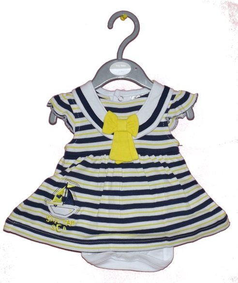 tiny Premature baby dress DRESSED For BEST SAILOR GIRL Blue Stripes 5-8lbs
