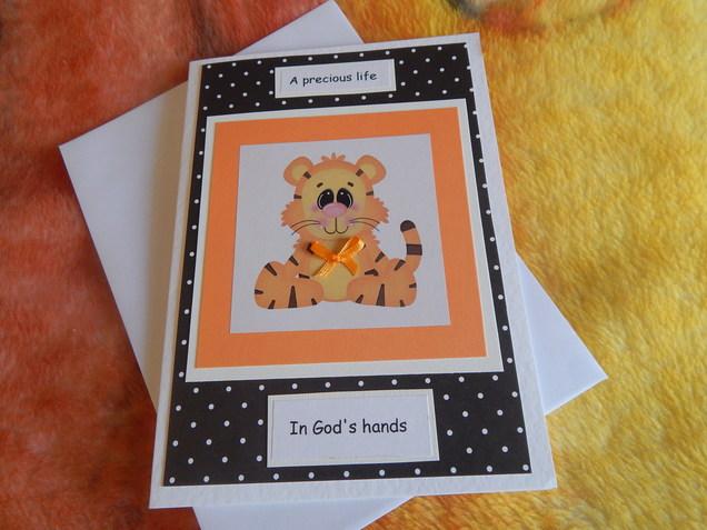 handmade infant condolance cards baby miscarriage bereavement TIGGS