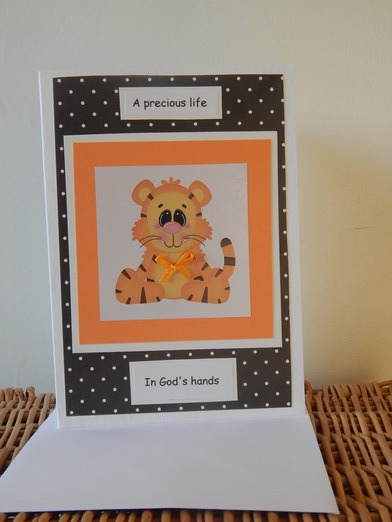 handmade infant condolance cards baby miscarriage bereavement TIGGS