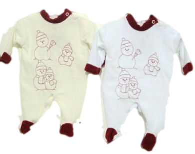 premature baby clothes FUN IN THE SNOW Winter sleepsuit CREAM tiny sizes