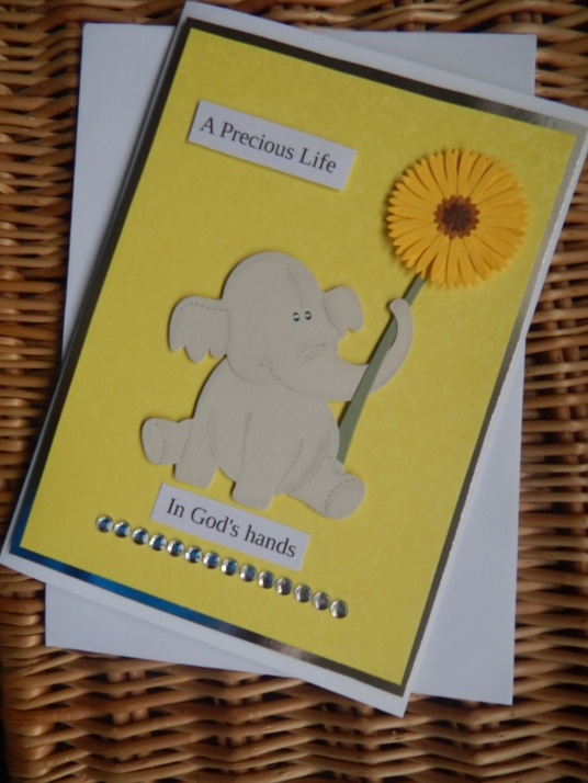 unisex baby bereavement cards miscarriage loss PRECIOUS LIFE