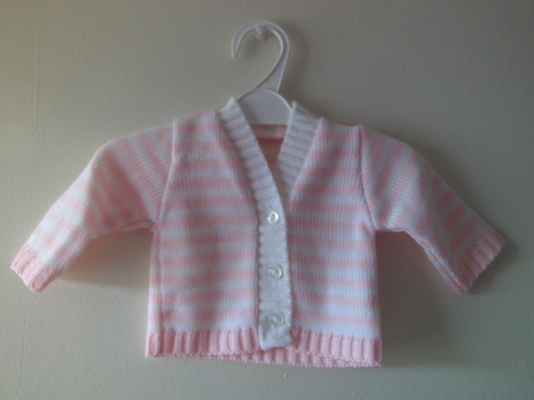 early baby cardigan premature baby clothes tiny 3-5lb blissful baby PINK