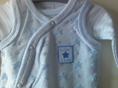 boys outfits 3 - 5 lb or 5-8lb Blue STAR IS BORN
